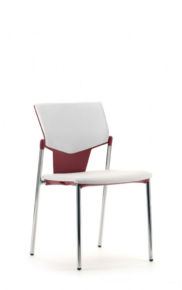 Pledge Ikon Chair With Upholstered Seat And Back With 4 Leg Frame without Arms
